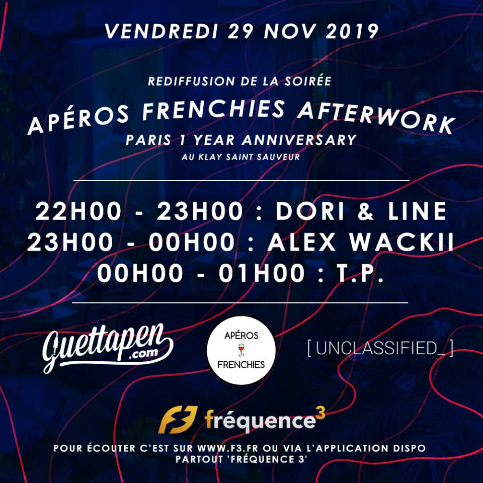 Fréquence 3 présent l'Apéros Frenchies Afterwork  !